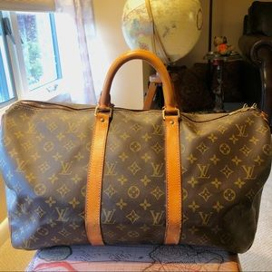 Louis Vuitton KeepAll 45 Duffle Bag Luggage LV
